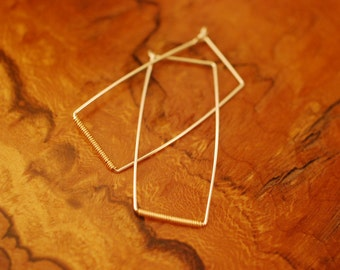 Rectangular wire wrapped earrings