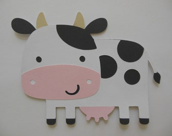 Farm Animal Cutouts - Cow - Birthday Party Decoration - Baby Shower Decorations - Set of 1