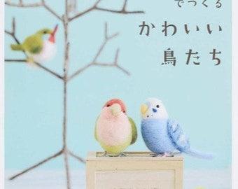NEEDLE FELT Wool Cute Birds - Japanese Craft Book
