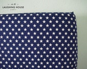 Fitted Crib Sheet (Trendsetter Stars Navy) - Gender Neutral Baby Bedding - Modern Baby - Nursery Fitted Sheet