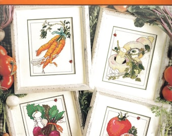 Fresh Picked ~   Cross Stitch Leaflet  ~  Vegetable Patterns to stitch
