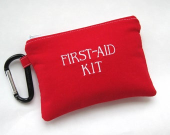 First aid Red Cross Kit, Fully Stocked Medicine Bag, Zippered Medical Pouch, diaper pouch, car kit, Boo Boo Ouchie Bag, Medical Supplies