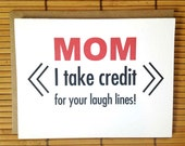Mom Birthday Card - Laugh Lines, Birthday Card For Mom, Mothers Birthday, Fun Mom Birthday Card, Greeting Card