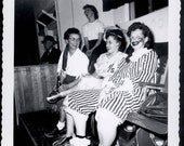 vintage photo Clown Lips Bowling Costume Party 3 Women