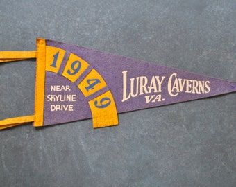 vintage pennant, luray caverns, virginia