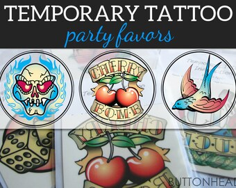 12 Classic Temporary Tattoos - Redneck Party Favors
