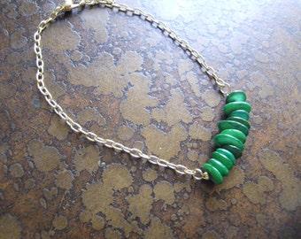 Fern Glass Serenity Chain bracelet
