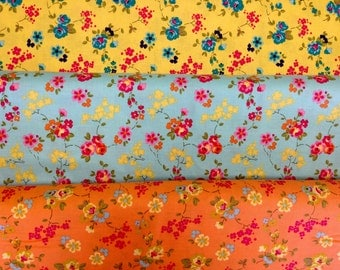 Olivia - Fabric From Riley Blake - Fat Quarter Set - 3 Prints - 5.95 Dollars