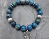 pave bracelet, pave diamond bracelet, Apatite Bracelet, luxury bracelet, Anne Choi jewelry, Sugar Skull bracelet, gift for her, Hill Tribe