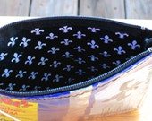 ReCyClEd Zipper Pouch from Chip Bag for Money, Meds, or Makeup New Orleans Louisiana
