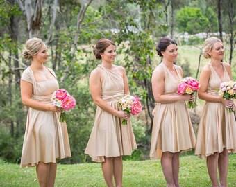 Custom Infinity Dress convertible dresses destination wedding bridesmaid blush sage khaki champagne pink blue blush pink rose rosegold taupe