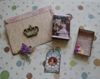 """Mother/Daughter """"Magic Moments""""  Matchbox with Goodies and Gift Card"""