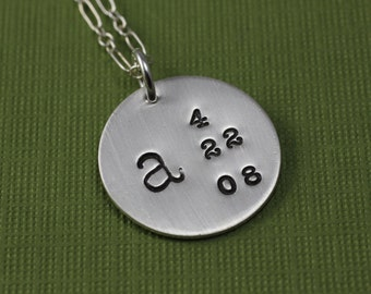 Personalized Initial and Date Necklace