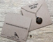 Customized Pocket Fold Necklace Cards - Holds Chain - Jewelry Display Cards - Packaging