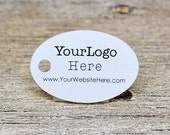 "90 tags - 1.5"" - Oval Shape Customized Small Price Tags Jewelry Hang Tags Labels"