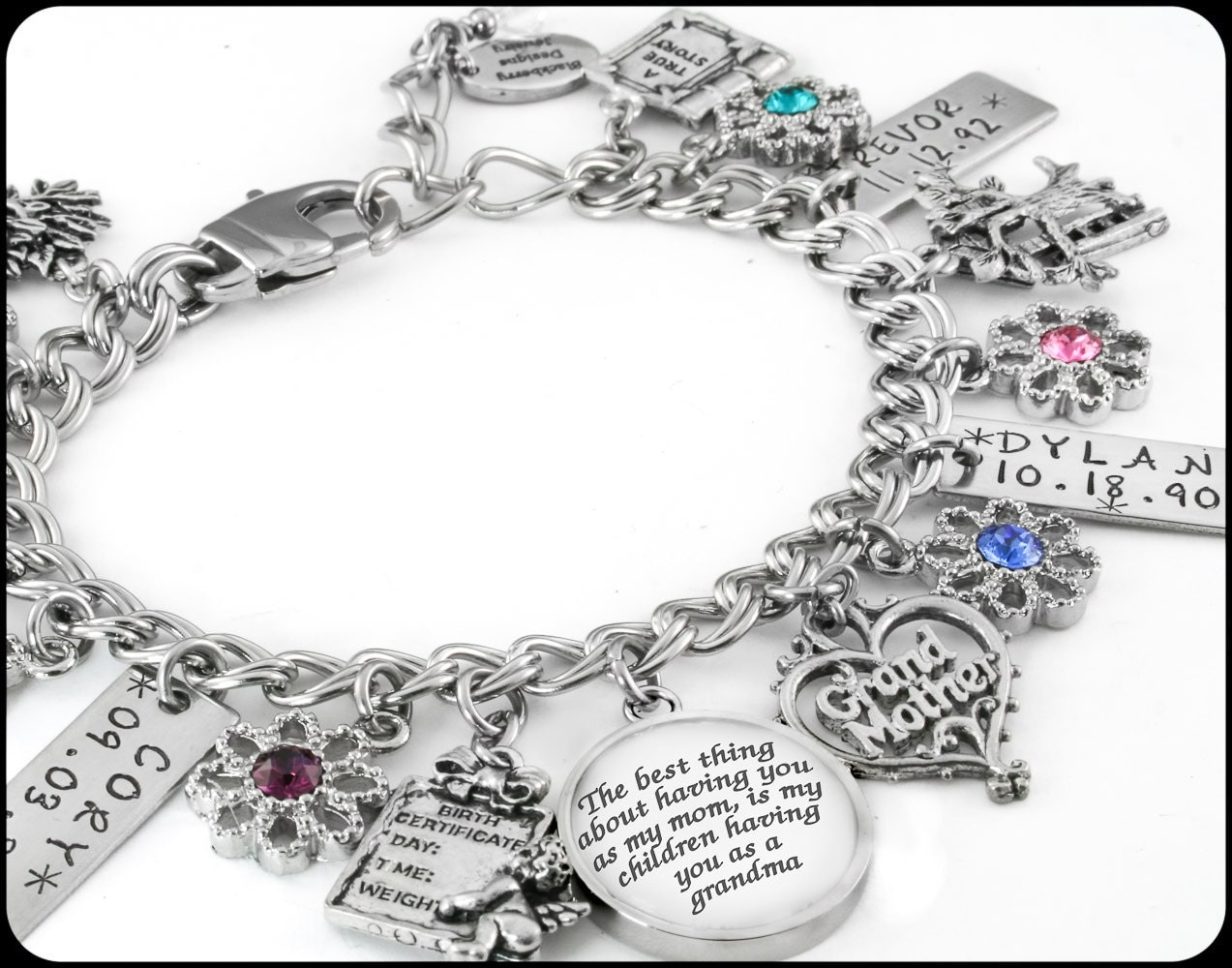 Grandmother jewelry personalized grandmother by for Grandmother jewelry you can add to