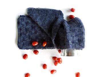 Ready to ship  hand crocheted  in dark inky hues scarf / ELDERBERRY ink // ooak  fluff