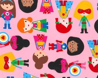 Ann Kelle, Super Kids, Girl Heroes on Pink, Yard