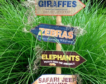 Printable Safari Jungle Signs, DIY, African Safari party signs, jungle party, Zoo banner, Safari birthday party, Safari party Decorations