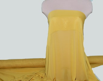 "Hi-Multi Chiffon fabric  Mustard  60"" wide sold by the yard.. formal..pageant...bridesmaids gowns..decor..curtains"