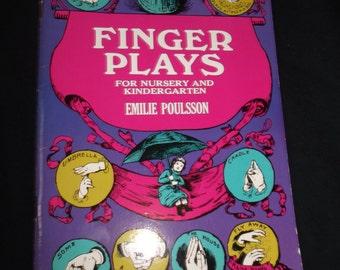 Emilie Poulsson Finger Plays Book