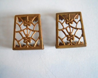 Vintage Brass  Filigree  Findings
