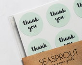48 Thank You Stickers, Mint Green Stickers, Envelope Seal, Wedding Label, Gift Wrapping, Thank You Sticker, Calligraphy Stickers