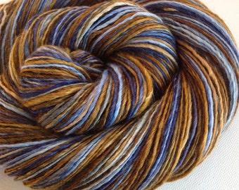 Handspun singles yarn 3.8ozs 400 yards sport weight polwarth silk