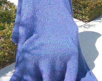 Super Sale - Barrington - Garter Stitch -  73 inch x 78 inch  Afghan, Blanket, Throw - FREE SHIPPING