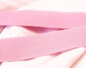 FOR JUDY - 3 colors, 2 yards EACH - Shell pink comfort plush waistband elastic, 1 inch wide