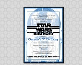 R2D2- Star Wars Birthday Invitation -  Birthday Invite -  Digital Printable DIY
