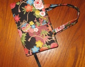 STANDARD SIZE Paperback Fabric Book Cover Asian Japanese Floral Design