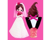 doll ice cream print 5 x 7 MR RIGHT
