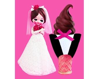doll ice cream print 5 x 7 MR RIGHT
