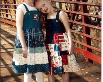 Denim & Ruffles Dress Pattern Child's Sizes 6, 7, 8