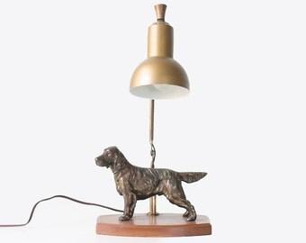 Vintage Dog Lamp