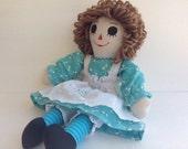 """Handmade Raggedy Ann Doll 15"""""""