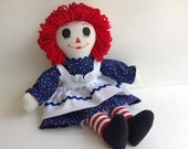 """Raggedy Ann Doll Handmade 15"""""""