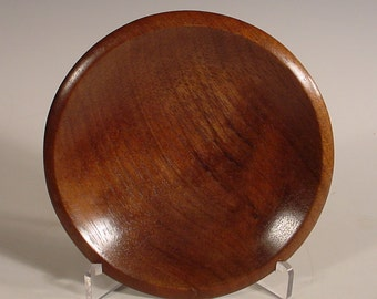 South American Walnut Ring or Coin Dish Turned Wood Bowl Number 5908