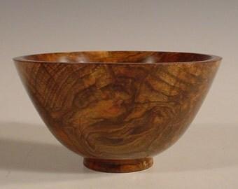 Maple Burl Wood Bowl Turned Wooden Bowl Number 5919