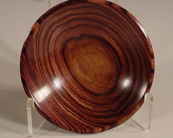 Exotic Kingwood Rosewood Ring Dish Turned Wood Bowl number 5949