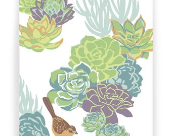 Towhee Succulents Boxed Set of 8 Cards