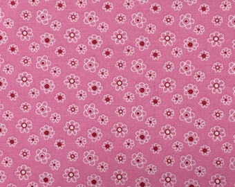Pink tiny floral fabric - 1 yard 10 inches