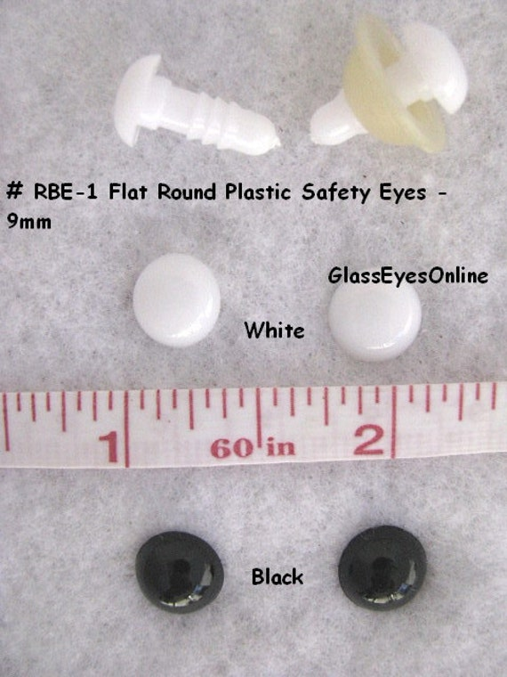 Amigurumi Safety Eyes And Noses : 20 Pair 6mm or 8mm Round Flat Safety Eyes, Noses, Buttons ...