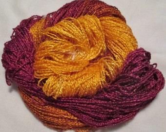 Handpainted Yarn-Soft Rayon Boucle - 250 yards  GLITTER