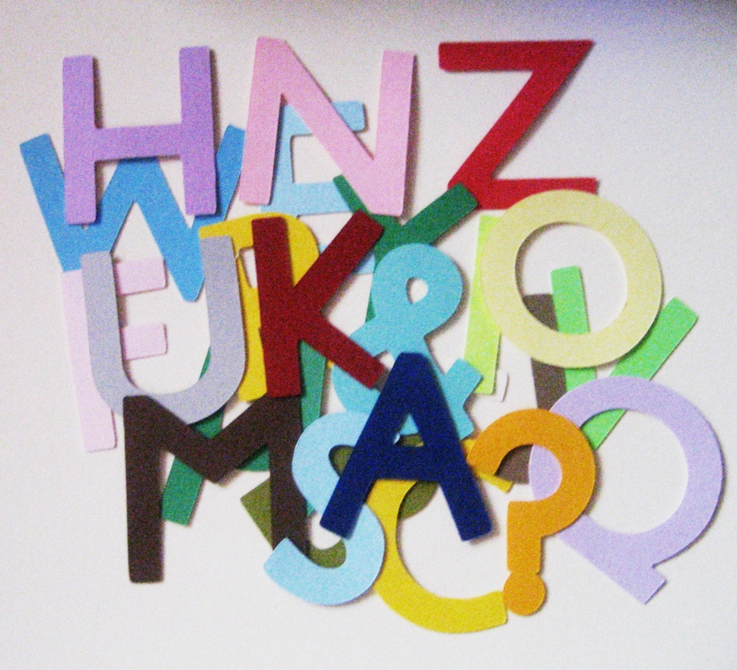 Letter From Baby To Baby Shower Guests: Alphabet Paper Die Cuts-Baby By Scrappingyourway On Etsy