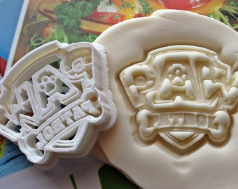 Paw Patrol Logo Cookie Cutter / Made From Biodegradable Material / Brand New / Party Favor / Kids Birthday / Baby Shower / Cake Top Kids