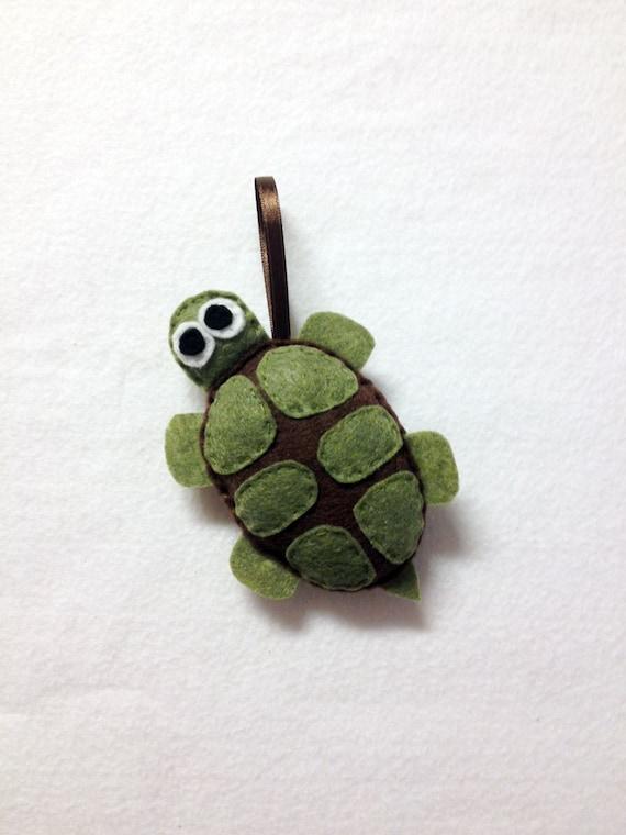 Turtle Ornament, Felt Animal Ornament, Christmas Ornament, Bellini the Turtle - Made to Order, Christmas Decoration