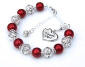 Thank You Gift, Thank You Charm Bracelet, Thank You Bridesmaid, Thank You Jewelry, Thank You Present, Best Friend Gift, Teacher Gift