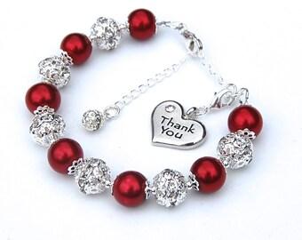 Thank You Gift, Thank You Bracelet, Appreciation Gift, Thank You Bridesmaid, Thank You Present, Best Friend Gift, Teacher Gift